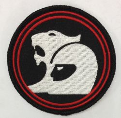 V8 Racing Round Embroidered Patch