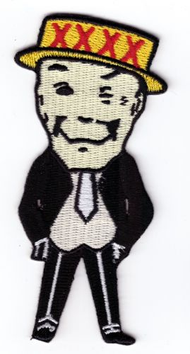 XXXX Iconic 4 X Man Embroidered Cloth Patch