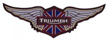 Triumph Brown Wings Back Patch