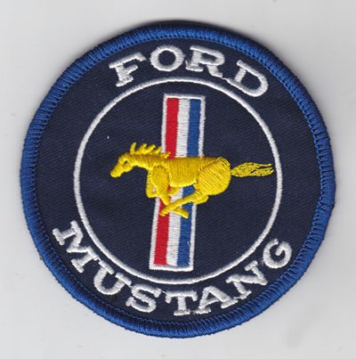 Ford Mustang Round Blue Patch