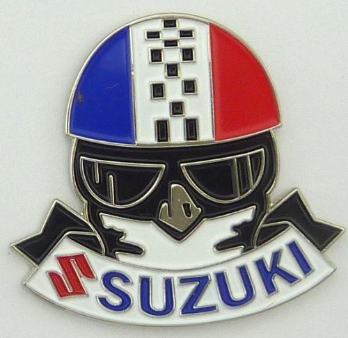 Suzuki Helmet Tri colour Badge / lapel Pin