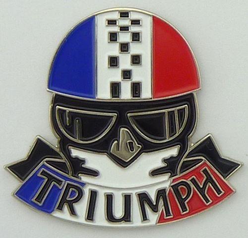 Triumph Helmet Tri colour Badge / Lapel Pin
