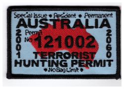 Terrorist Hunting Permit Patch