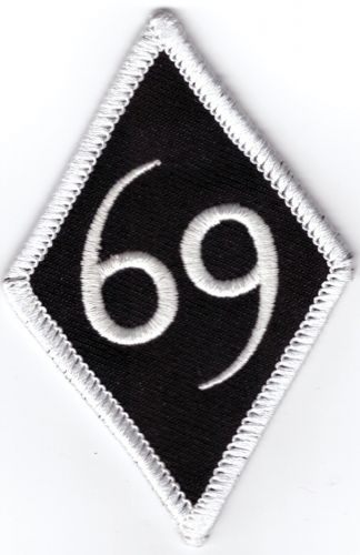 69 White Border Diamond Patch
