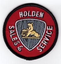 Holden Sales & Service Round Cloth Patch