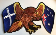 Eureka Australia Winged Flag Eagle Back Patch