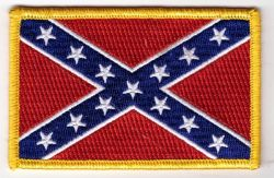 Confederate Flag embroidered cloth Patch