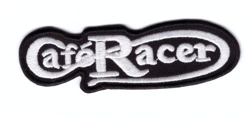 Cafe Racer Script  Embroidered cloth Patch