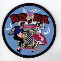 Rock and Roll Dancers Embroidered patch