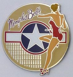 Memphis Belle Retro Lapel-Pin/Badge