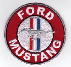 Ford Mustang Round Red Patch