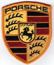 Porsche Shield Embroidered Patch