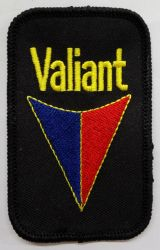 Valiant Red&Blue on Black Patch