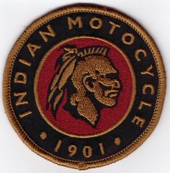 Indian Round Retro Motocycle 1901 Patch