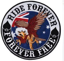 Ride Forever Back Patch