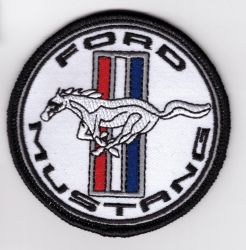 Mustang White Sml Patch