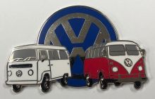 VW Kombi Duo Retro Lapel-Pin Badge