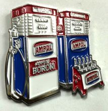 Ampol Boron bowser Lapel-Pin/Badge