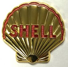 Shell Golden Retro Lapel-Pin/Badge