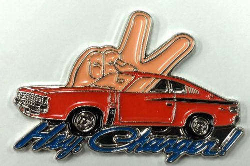 Chrysler Hey Charger Lapel Pin / Badge