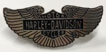 American Muscle Silver Eagle Wings Badge/Lapel-Pin