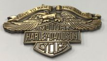 American Muscle Brass Eagle Wings Badge/Lapel-Pin
