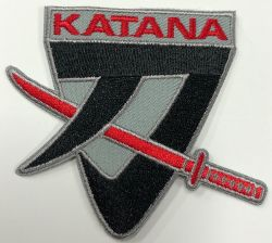 Katana Suzuki Embroidered cloth Patch