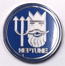 Neptune Blue Round Badge/Lapel-pin