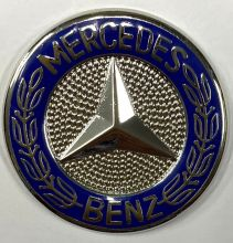 Mercedes Round Metal Badge/Lapel-pin