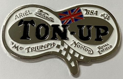 Ton-Up Racing quality metal Badge/lapel-pin