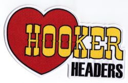 Hooker Headers Embroidered Cloth Patch Sml