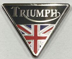 Triumph Triangle and Flag Metal Badge/Lapel-pin