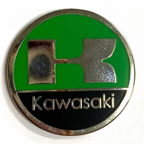Kawasaki Green Round Metal Badge/Lapel-pin