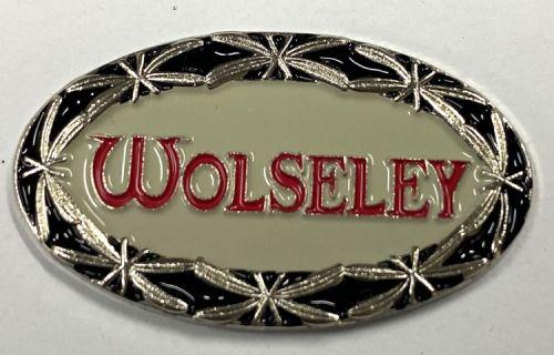 Wolseley Oval Beige Metal Badge/Lapel-pin