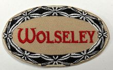 Wolseley Oval Beige Embroidered cloth Patch