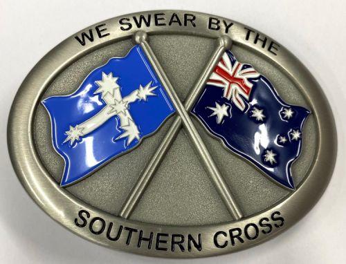 Australian Eureka Pewter Belt Buckle