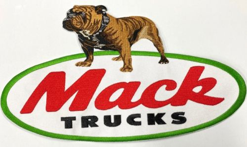 Mack Bull Dog Truck Embroidered Cloth Back Patch