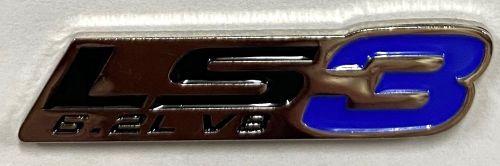 LS 3 6.2L V8 metal Badge