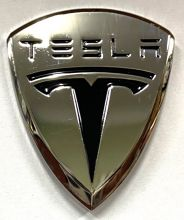 Tesla metal Badge