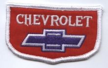 Cheverolet Bowtie on Red Cloth Patch