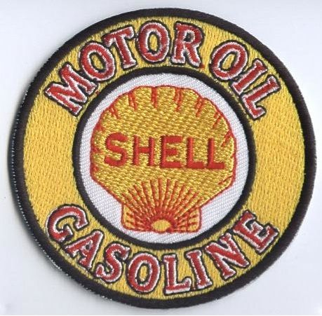 Shell Motoroil Gasoline Embroidered Patch