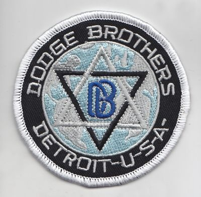 Dodge Brothers Detroit USA Patch