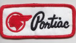 Pontiiac Indian Red and White Patch