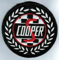 Cooper S Wreath Embroidered Patch