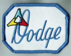 Dodge Script Tri Power Cloth Patch