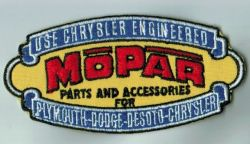 Chrysler Engineered Mopar Parts Embroidered Patch