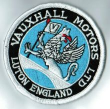 Vaxhaull Motors Round Cloth Patch