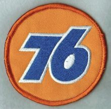 76 Oil Company Logo Embroidered Patch