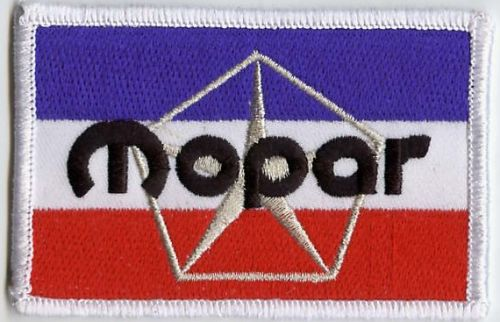 Mopar 3  Colour Silver Star Patch