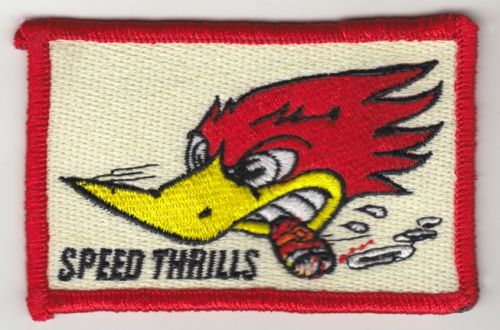 Speed Thrills Embroidered Patch